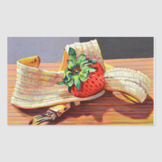 Strawberry Banana Split Rectangular Sticker