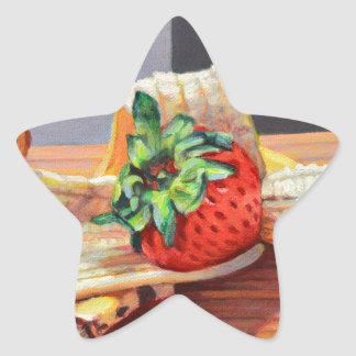 Strawberry Banana Split Star Sticker