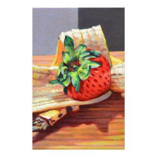 Strawberry Banana Split Stationery