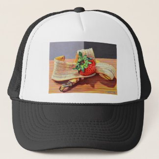 Strawberry Banana Split Trucker Hat