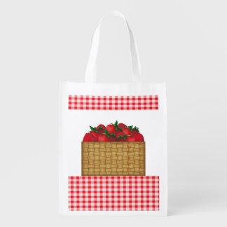 Strawberry Basket Reusable Bag