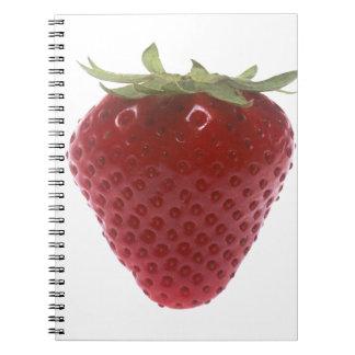 Strawberry big red notebook