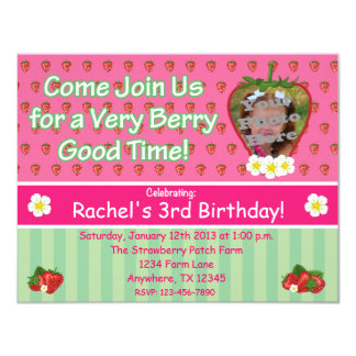 Strawberry Birthday Party Invitation