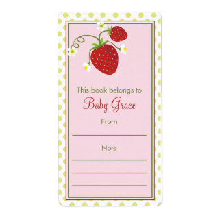 Strawberry Bookplate