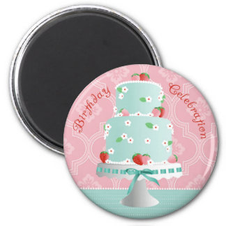 Strawberry Cake Invite Magnet