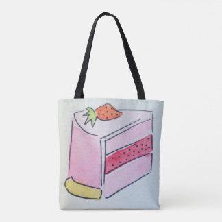 Strawberry Cake Tote Bag