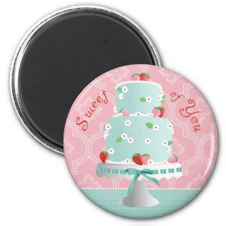 Strawberry Cake TY Magnet