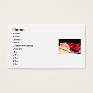 Strawberry Cheesecake And Orchids Business Card