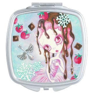 Strawberry Chocolate Ice Cream Faerie Mirror For Makeup