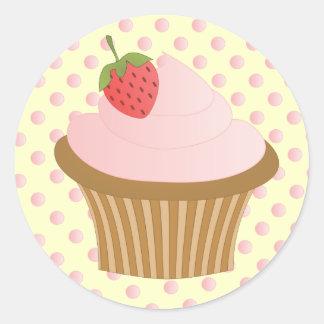 Strawberry Chocolate Round Sticker