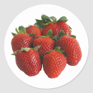 Strawberry Classic Round Sticker
