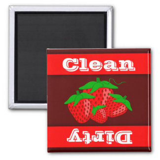 Strawberry Clean Dirty Indicator Dishwasher Magnet