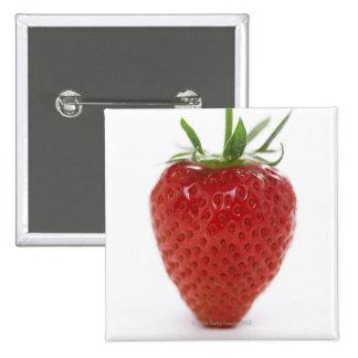 Strawberry, close-up 15 cm square badge