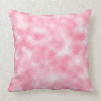 Strawberry & Cream Modern Abstract Glitter Cushion