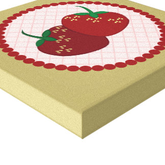 Strawberry Cream Pie Art Canvas Print