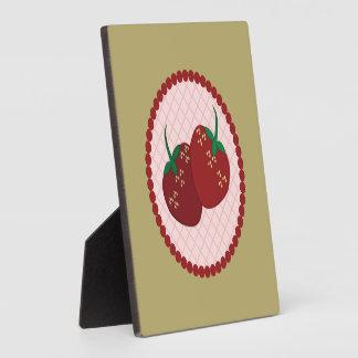 Strawberry Cream Pie Art Plaque