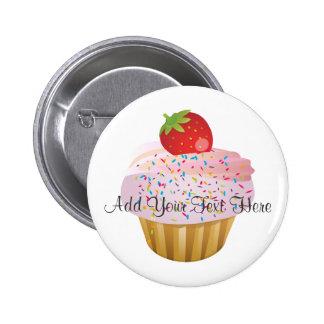 Strawberry Cupcake 6 Cm Round Badge