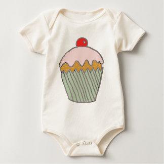 Strawberry Cupcake Baby Bodysuit