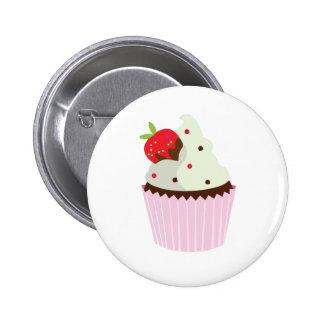 Strawberry Cupcake Pinback Buttons