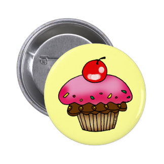 Strawberry cupcake buttons