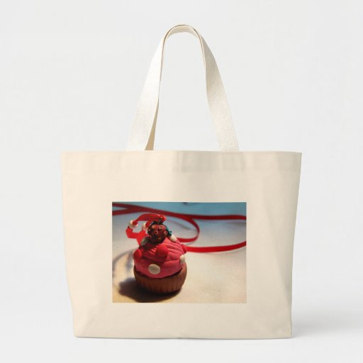 Strawberry Cupcake Canvas Bags