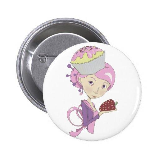 Strawberry Cupcake Button
