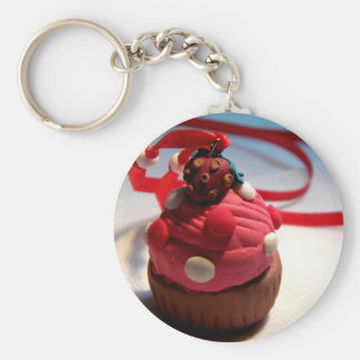 Strawberry Cupcake Key Chain
