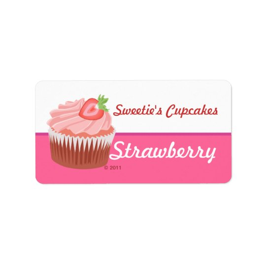 Strawberry Cupcake Labels