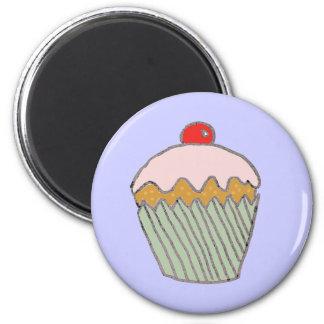 Strawberry Cupcake Magnet