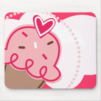 Strawberry Cupcake Mouse Pad