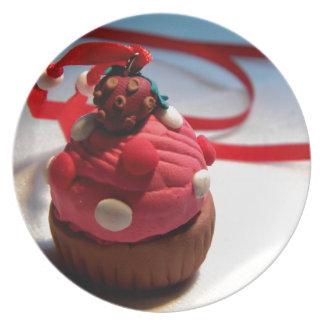 Strawberry Cupcake Plates