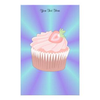 Strawberry Cupcake Stationery