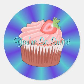 Strawberry Cupcake Stickers