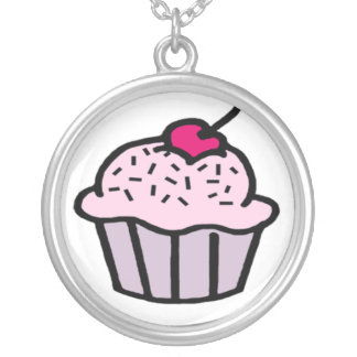 Strawberry Cupcake with a Cherry on Top Necklace