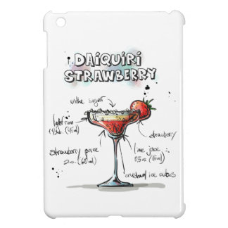 Strawberry Daiquiri Drink Recipe Design iPad Mini Cases