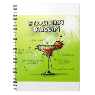 Strawberry Daiquiri Recipe - Cocktail Gift Notebook