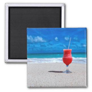 Strawberry Daiquiri Tropical Punch Caribbean Beach Magnet