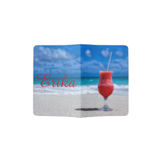 Strawberry Daiquiri Tropical Punch Caribbean Beach Passport Holder