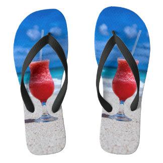 Strawberry Daiquiri Tropical Punch Caribbean Beach Thongs