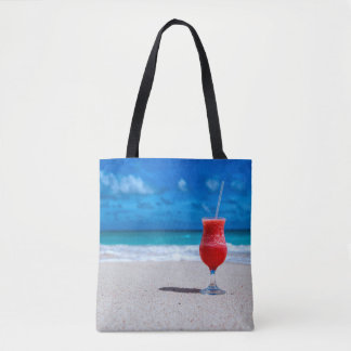 Strawberry Daiquiri Tropical Punch Caribbean Beach Tote Bag