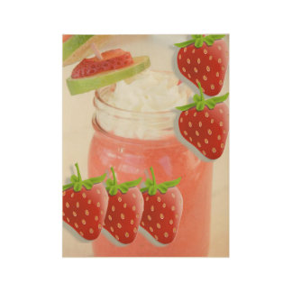 Strawberry daquiri drink womens poster wood poster