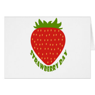 Strawberry Day - Appreciation Day Card