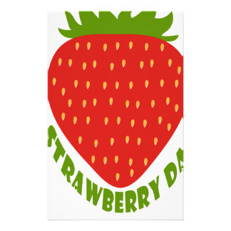 Strawberry Day - Appreciation Day Personalised Stationery