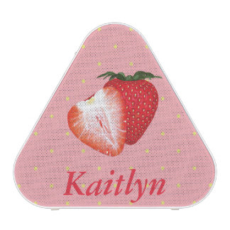 Strawberry Dots with Customizable Text Speaker
