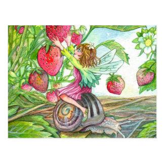 Strawberry Fairy Postcard