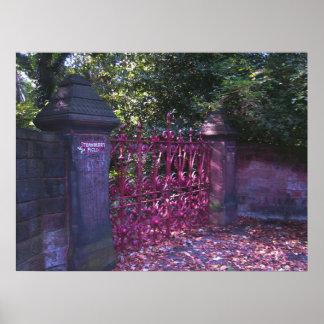 Strawberry Field Gates, Liverpool UK. Poster