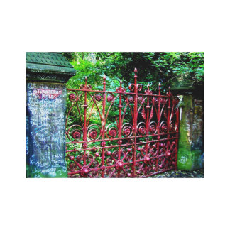 Strawberry Field Gates, Liverpool UK Stretched Canvas Print