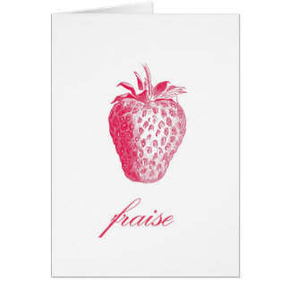 Strawberry (Fraise) Notecards Card