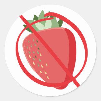 Strawberry Free Classic Round Sticker
