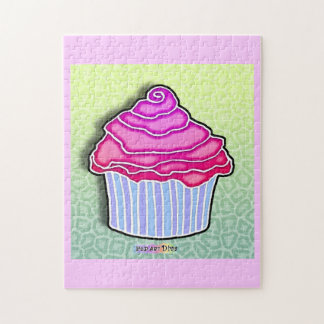 Strawberry Frosted Cupcake Puzzle